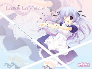 Rating: Safe Score: 16 Tags: areas lapis_lazuli maid miyasaka_miyu nagamine_ayana thighhighs wallpaper User: xxyw666