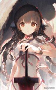 Rating: Questionable Score: 31 Tags: animal_ears anju_(utawarerumono) japanese_clothes sword tail tatami_to_hinoki utawarerumono User: Dreista