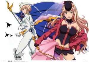 Rating: Safe Score: 21 Tags: cleavage macross macross_frontier sheryl_nome shinohara_kenji uniform User: YamatoBomber