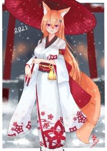 Rating: Safe Score: 13 Tags: animal_ears kimono kitsune tagme tail umbrella User: dick_dickinson