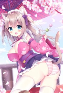 Rating: Questionable Score: 33 Tags: animal_ears ass maid momochi_chia nekomimi no_bra pantsu shimapan skirt_lift tail thighhighs umbrella wa_maid User: phenol
