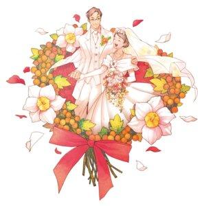 Rating: Safe Score: 4 Tags: dress okino wedding_dress User: Phiris