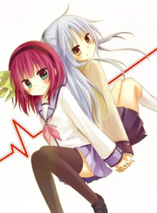 Rating: Safe Score: 18 Tags: amene_kurumi angel_beats! seifuku tenshi thighhighs yurippe User: fairyren