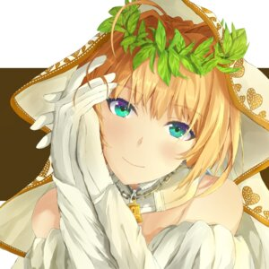 Rating: Safe Score: 25 Tags: fate/grand_order girigir1 saber_bride saber_extra User: mash