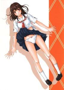 Rating: Questionable Score: 32 Tags: g's_studio hoshino_yuumi kimikiss kisaragi_gunma pantsu seifuku skirt_lift User: Brufh