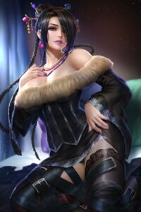 Rating: Questionable Score: 37 Tags: dress final_fantasy final_fantasy_x garter lulu no_bra nudtawut_thongmai pantsu skirt_lift thighhighs User: BattlequeenYume