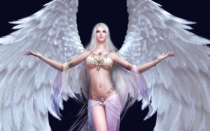 Rating: Questionable Score: 78 Tags: angel cleavage forsaken_world underboob wings User: Radioactive