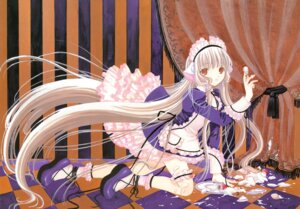 Rating: Safe Score: 18 Tags: chii chobits clamp cream fixed maid thighhighs User: MosquitoJack