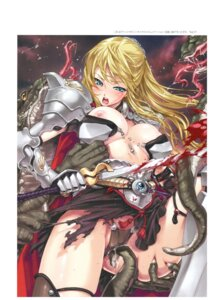Rating: Questionable Score: 28 Tags: armor blood breasts happoubi_jin monster nipples no_bra pantsu sword tentacles thighhighs User: 4ARMIN4