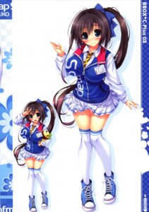 Rating: Questionable Score: 38 Tags: black_paper_fortune mapuko oshiki_hitoshi seifuku sofmap thighhighs User: gibwar