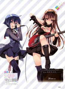 Rating: Safe Score: 42 Tags: cleavage dress guitar heels refeia seifuku thighhighs User: drop