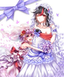 Rating: Safe Score: 24 Tags: dress horns kijin_seija sheya sukuna_shinmyoumaru touhou wedding_dress User: Mr_GT
