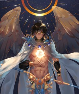 Rating: Safe Score: 15 Tags: fate/grand_order fate/prototype:_fragments_of_blue_and_silver male puff rider_(fate/prototype_fragments) wings User: charunetra