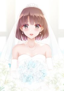 Rating: Safe Score: 39 Tags: dress katou_megumi rko_(a470350510) saenai_heroine_no_sodatekata wedding_dress User: Mr_GT