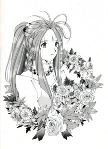 Rating: Safe Score: 4 Tags: ah_my_goddess belldandy fixme fujishima_kousuke monochrome User: minakomel