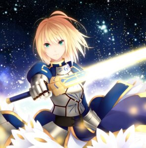 Rating: Safe Score: 29 Tags: armor fate/stay_night fate/zero kujou_ichiso saber sword User: omegakung