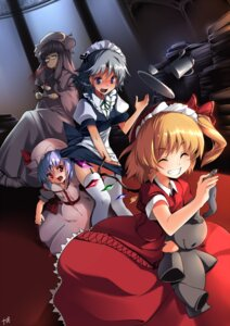 Rating: Safe Score: 30 Tags: flandre_scarlet izayoi_sakuya kapo maid patchouli_knowledge remilia_scarlet stockings thighhighs touhou User: fireattack