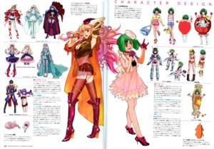 Rating: Safe Score: 12 Tags: binding_discoloration character_design cleavage crease dress macross macross_frontier ranka_lee sheryl_nome thighhighs User: dansetone