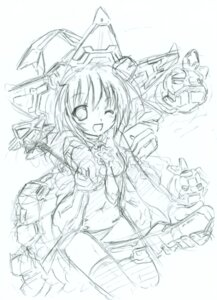 Rating: Questionable Score: 6 Tags: komatsu_e-ji mecha_musume monochrome sketch User: petopeto