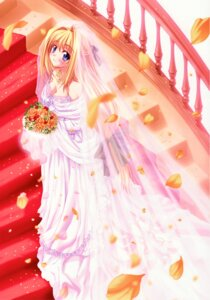 Rating: Safe Score: 32 Tags: catwalk cleavage dress filia_theoricus kannatsuki_noboru maou_to_odore! see_through wedding_dress User: es