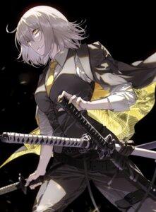 Rating: Safe Score: 15 Tags: fate/grand_order garter jeanne_d'arc jeanne_d'arc_(alter)_(fate) sword tsurukame uniform User: Genex