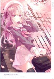 Rating: Safe Score: 33 Tags: hoshi pantsu seifuku skirt_lift tagme thighhighs User: BattlequeenYume