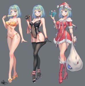 Rating: Safe Score: 52 Tags: bikini character_design christmas dress erect_nipples heels konishi_(565112307) see_through stockings swimsuits thighhighs User: BattlequeenYume