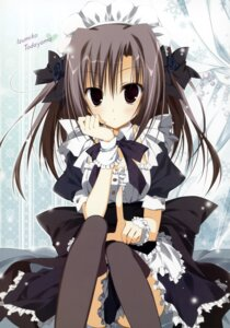 Rating: Safe Score: 56 Tags: ebiten inugami_kira maid thighhighs todayama_izumiko User: WtfCakes
