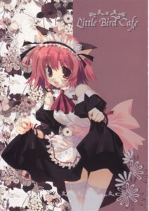 Rating: Safe Score: 10 Tags: animal_ears cut_a_dash!! maid mitsumi_misato nekomimi skirt_lift thighhighs User: fireattack