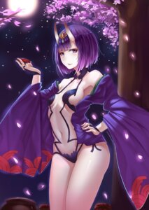 Rating: Questionable Score: 47 Tags: cleavage fate/grand_order horns japanese_clothes no_bra open_shirt pantsu sake shuten_douji_(fate/grand_order) silver_snow User: mash