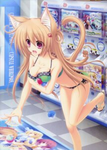 Rating: Questionable Score: 78 Tags: animal_ears bikini cleavage mikagami_mamizu neko_koi nekomimi ryuudou_misaki swimsuits tail whirlpool User: 椎名深夏