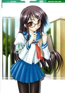 Rating: Safe Score: 10 Tags: jpeg_artifacts mahiro_takeumi megane pantyhose seifuku User: abdd