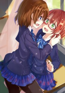 Rating: Safe Score: 38 Tags: hoshizora_rin koizumi_hanayo love_live! megane okutomi_fumi pantyhose seifuku User: Radioactive