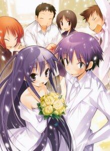 Rating: Safe Score: 13 Tags: akiba_rika dress ezaki_yuuichi hanbun_no_tsuki_ga_noboru_sora wedding_dress yamamoto_keiji User: Kalafina