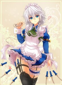 Rating: Safe Score: 59 Tags: garter izayoi_sakuya maid mickey_dunn stockings thighhighs touhou weapon User: Mr_GT