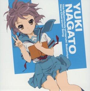 Rating: Safe Score: 15 Tags: disc_cover nagato_yuki nishiya_futoshi seifuku suzumiya_haruhi_no_yuuutsu User: Davison
