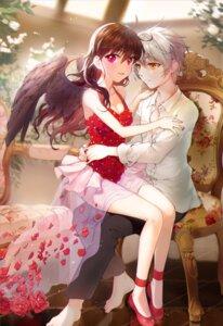 Rating: Safe Score: 12 Tags: cleavage dodmsdk heels kuroha_rue mytho princess_tutu see_through wings User: animeprincess