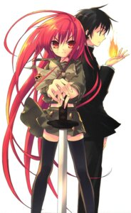 Rating: Safe Score: 10 Tags: ito_noizi sakai_yuuji scanning_resolution screening seifuku shakugan_no_shana shana sword thighhighs User: 月无名