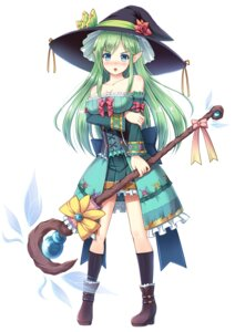 Rating: Questionable Score: 23 Tags: akashio brave_girl_ravens breast_hold cleavage heels pointy_ears weapon witch User: zyll