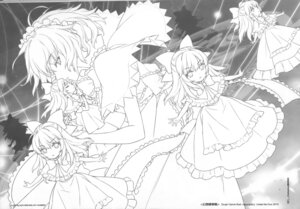 Rating: Safe Score: 6 Tags: alice_margatroid an2a line_art monochrome touhou wind_mail User: fireattack