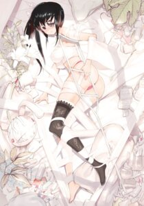 Rating: Questionable Score: 28 Tags: bandages erect_nipples eyepatch kisinkuji pantsu sarashi thighhighs User: blooregardo