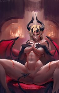 Rating: Explicit Score: 62 Tags: breast_hold horns monster_girl naked nipples pointy_ears pussy pussy_juice robutts tail tattoo uncensored wings User: charunetra