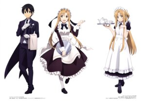 Rating: Safe Score: 32 Tags: asai_seiko asuna_(sword_art_online) heels kirito maid sword_art_online yokota_masafumi User: drop