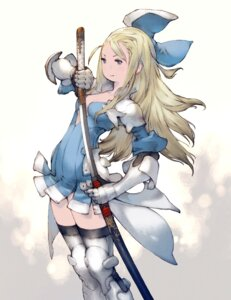 Rating: Safe Score: 11 Tags: armor bravely_default bravely_second:_end_layer dress edea_lee no_bra skirt_lift square_enix sword thighhighs yoshida_akihiko User: YewGeneolgia