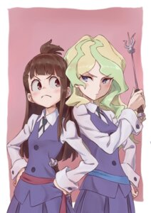 Rating: Safe Score: 32 Tags: atsuko_kagari diana_cavendish little_witch_academia seifuku tama_(sin05g) User: nphuongsun93