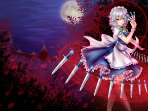 Rating: Safe Score: 23 Tags: dress izayoi_sakuya maid tagme thighhighs touhou weapon User: AsadaShino