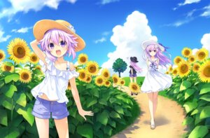 Rating: Safe Score: 38 Tags: choujigen_game_neptune dress nepgear neptune neptune_(shinjigen_game_neptune_vii) summer_dress tsunako User: Nepcoheart