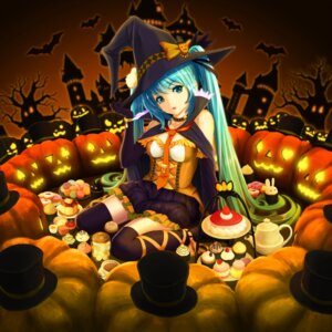 Rating: Safe Score: 24 Tags: halloween hatsune_miku sugimasa thighhighs vocaloid witch User: Mr_GT
