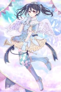 Rating: Safe Score: 25 Tags: 39_kura dress love_live! thighhighs wings yazawa_nico User: Mr_GT