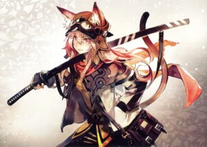 Rating: Safe Score: 33 Tags: animal_ears banpai_akira sword tail User: Twinsenzw